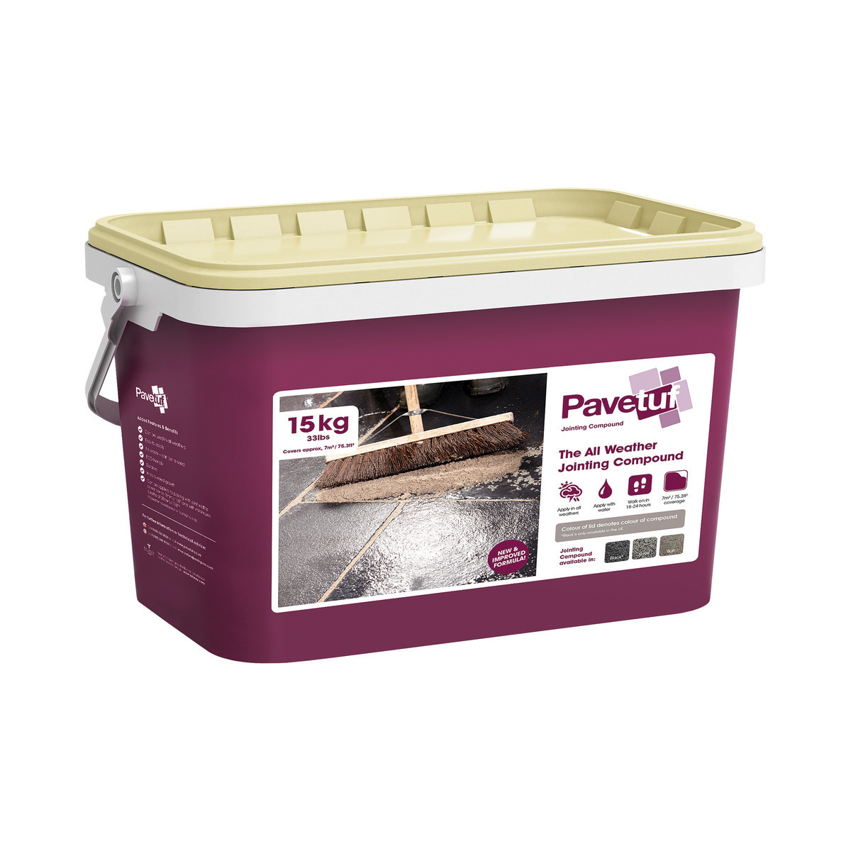 Talasey PaveTuf Jointing Compound - Buff - 15kg Tub