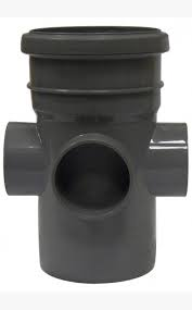 110mm Solvent Weld Single Socket Bossed Pipe - Olive Grey