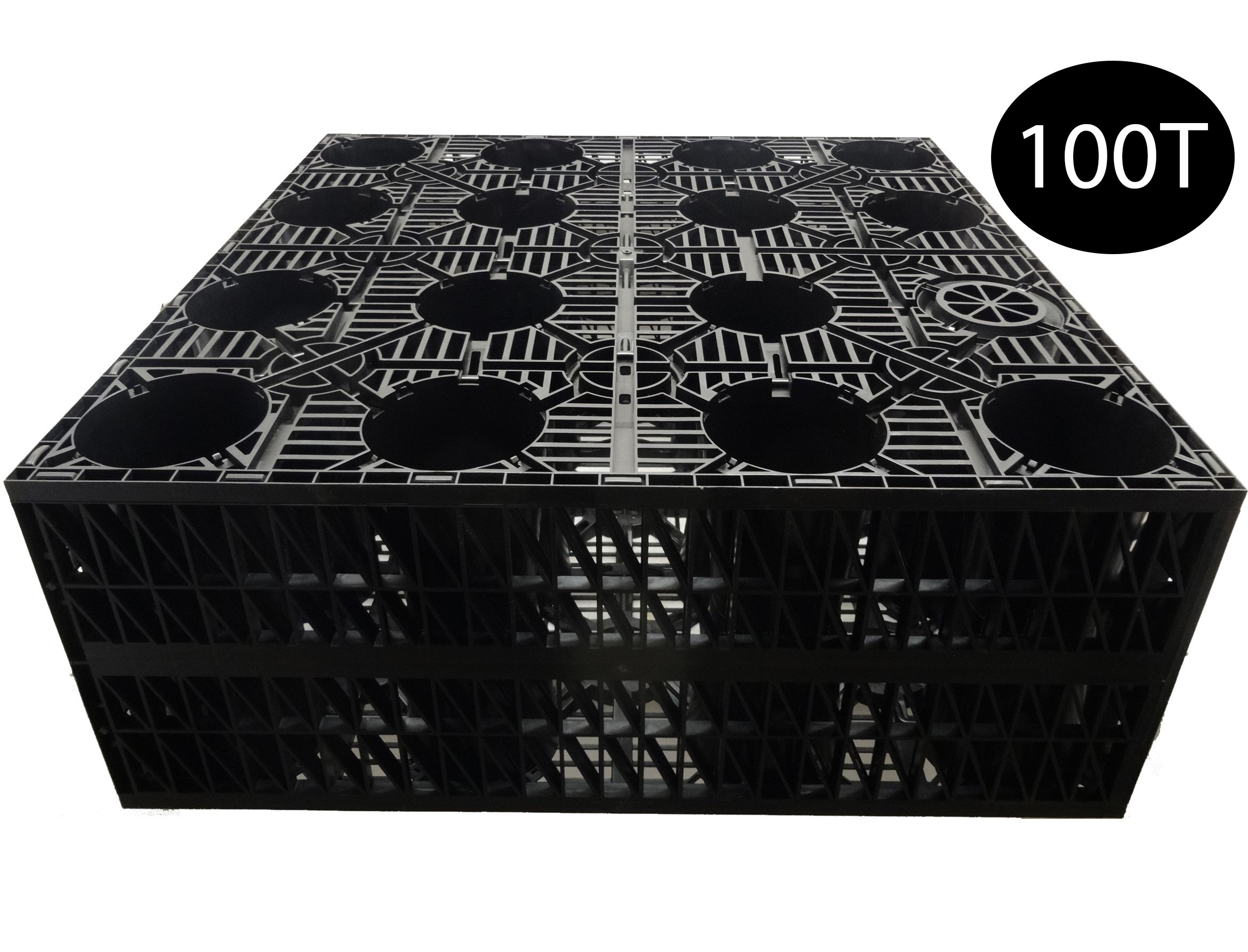 Pennine AquaCrate 490 (Deks Century100) Storm Attenuation Soakaway Crate (100T) - 1000x1000x400mm (0.4m3)