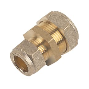 22mm Brass Compression Reducing Coupling to 15mm