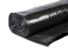 4m x 250mu Black Polythene DPM 25m Roll (BBA Approved)