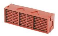 "Combination 9"" x 3"" Plastic PVC Airbrick G930 - Terracotta"