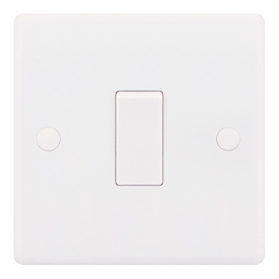 Selectric Smooth 10A Plate Light Switch [X-Rated, ATSA] - 1 Gang, 1 Way