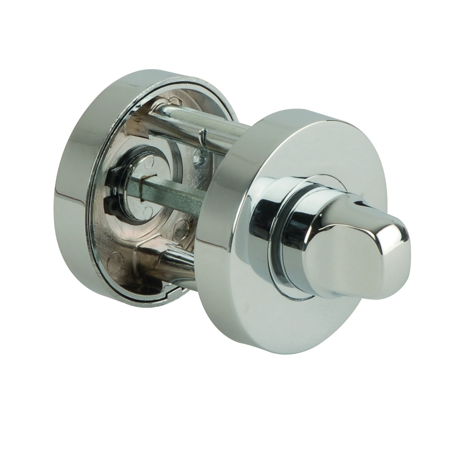 JigTech Round Bathroom Thumb Turn - Polished Chrome