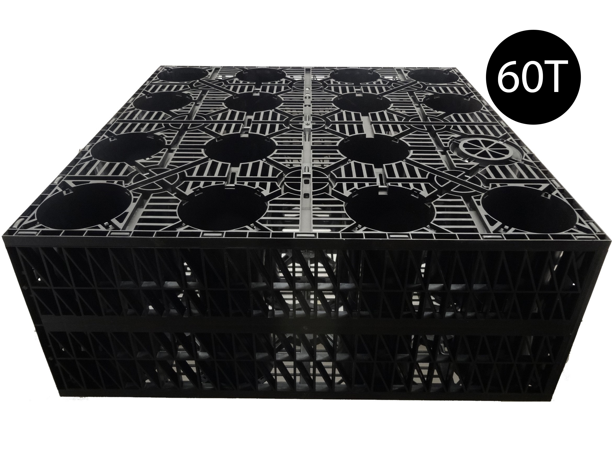 Pennine AquaCrate 450 (Deks Century100) Storm Attenuation Soakaway Crate (60T) - 1000x1000x400mm (0.4m3)