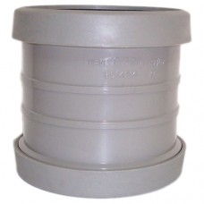110mm Push Fit Double Socket Slip/Repair Coupling - Grey