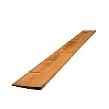 "22mm x 100mm (4"") Featheredge Brown Treated Boards - 2.44m (8')"
