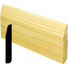 Pencil Rounded/Chamfered Softwood Skirting - 19mm x 100mm