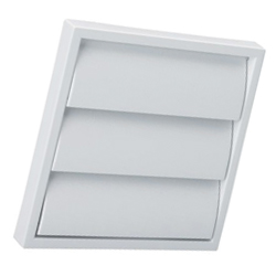 "100mm (4"") Gravity Louvre Vent - White"