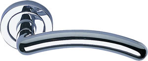 Eclipse Clarissa Polished Chrome Lever on Rose Set
