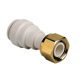 "John Guest Speedfit 15mm Straight to 1/2"" Tap Connector"