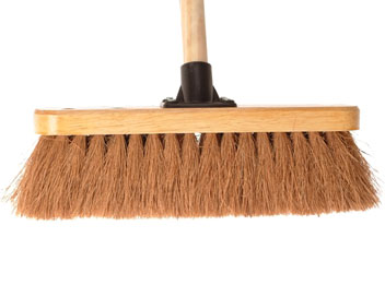 "Faithfull 30cm (12"") Soft Coco Broom (Head & Handle)"