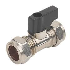 15mm Chrome c/w Handle Chrome Isolating Valve
