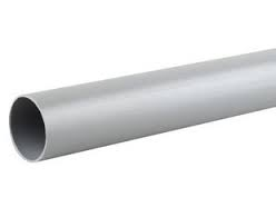 40mm Push Fit Waste Plain Ended 3m Pipe - Grey