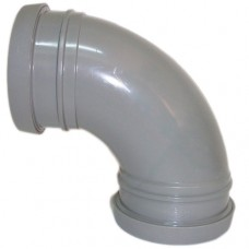 110mm Push Fit 90' Double Socket Bend - Grey
