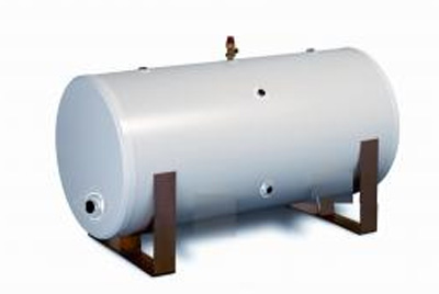 JABDUC Unvented Horizontal Indirect Stainless Steel Cylinder - 170 ltr