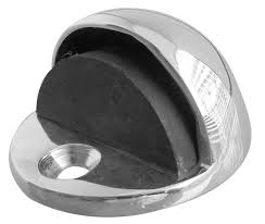 Eclipse Oval Shielded Polished Chrome Floor Door Stop