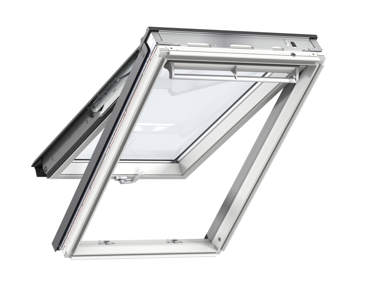 Velux GPL FK06 660 x 1180mm Top Hung 66Pane Roof Window - White Painted