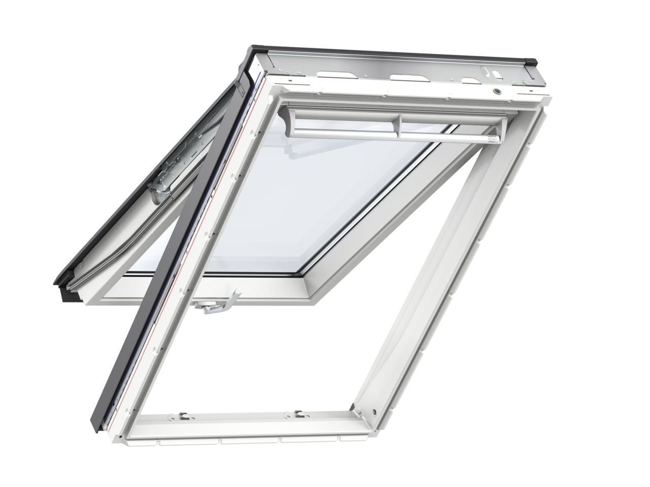 Velux GPU CK06 550 x 1180mm Top Hung 62Pane Roof Window - White Polyurethane