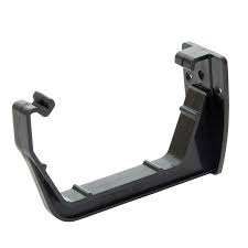 112mm Square Line Fascia Bracket - Black