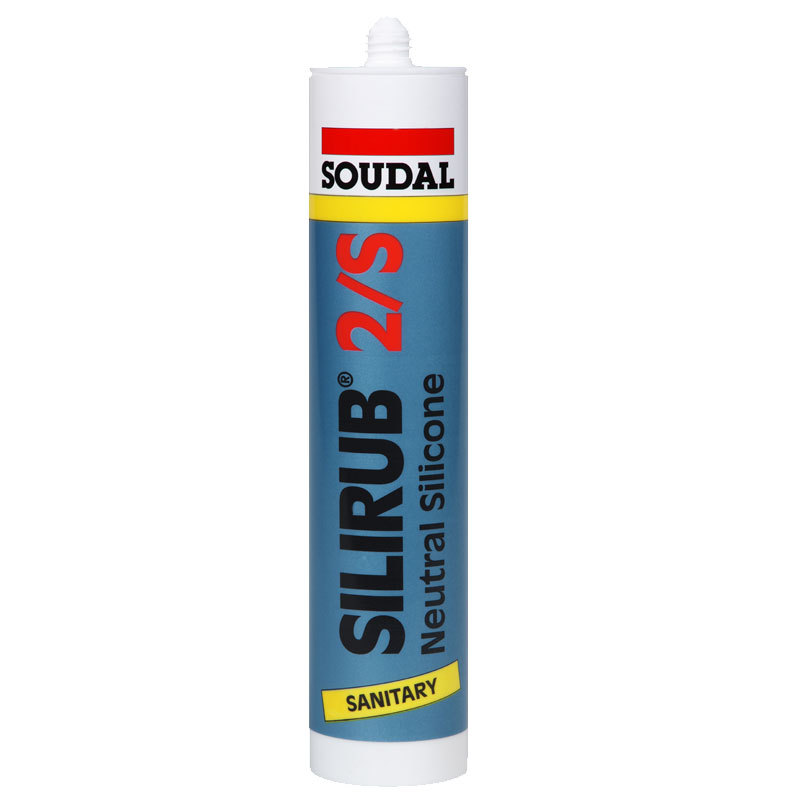 Soudal 310ml Silirub 2S Low Modulus Neutral Cure Sanitary Sealant - Grey