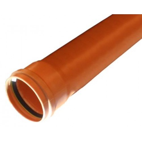 110mm Underground 3 Metre Single Socket Pipe