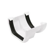 112mm Square Line Half Round to Square Line Adaptor - White