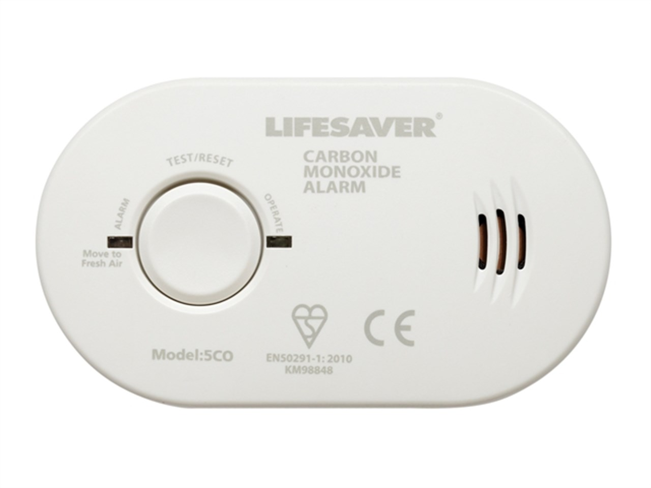 Kidde LifeSaver Battery Carbon Monoxide Detector/Alarm (w/ Hush Feature, 7-yr Warranty)