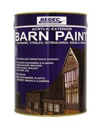 Bedec Barn Paint - 5L - Semi Gloss - White