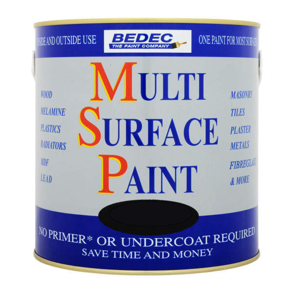 Bedec Multi-Surface Paint (MSP) - 2.5L - Satin - Black