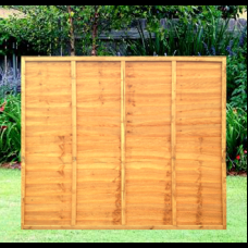 6' x 5' Waney Edge Overlap 5 Bar Fence Panel