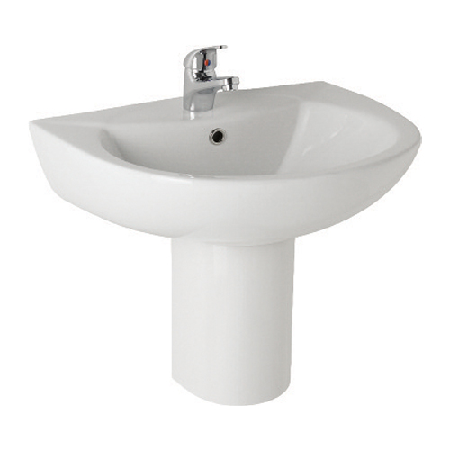 K-Vit G4K 545mm Basin 2TH & Semi Pedestal