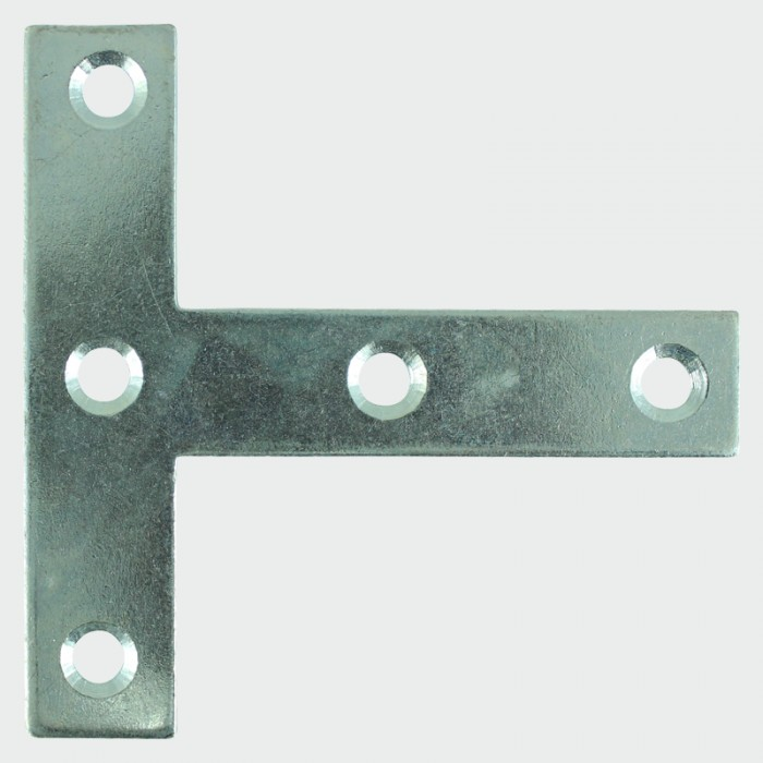 Timco 76x76x16mm Tee Plate (Zinc Plated) - Pack of 2