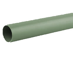 50mm Solvent Weld Waste Plain Ended 3m Pipe - Olive Grey