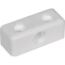 Eclipse Modesty Blocks with Screws - White (Pack of 4)