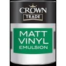 Crown Trade - Matt Vinyl Emulsion - White - 5l