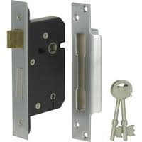 Dale 63mm 5 Lever BS3621 Reversable Mortice Sashlock - Stainless Steel