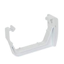 112mm Square Line Fascia Bracket - White