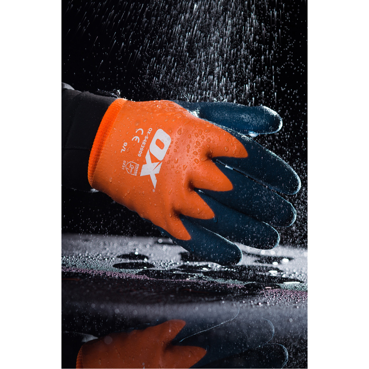 Ox Waterproof Thermal Latex Gloves - Size 9 (L)