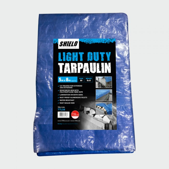 TimcoShield LD 2m x 3m All-Purpose Tarpaulin (80gsm) - Blue