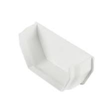 112mm Square Line Internal Stop End - White