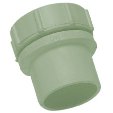 50mm Solvent Weld Waste Internal Screwed Access Plug - Olive Grey