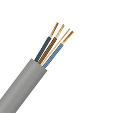 1mm x 50m Flat Three Core & Earth Cable