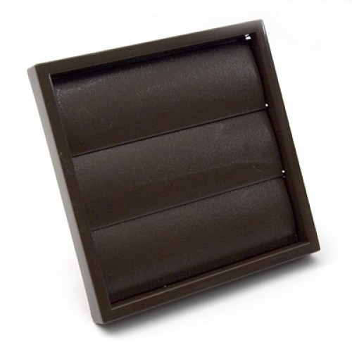 "100mm (4"") Gravity Louvre Vent - Brown"