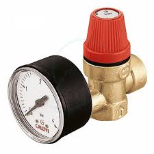 "1/2""  FxF Safety Relief Valve and Gauge 3 bar"