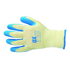 Ox Pro Latex Grip Gloves - Size 9 (L)