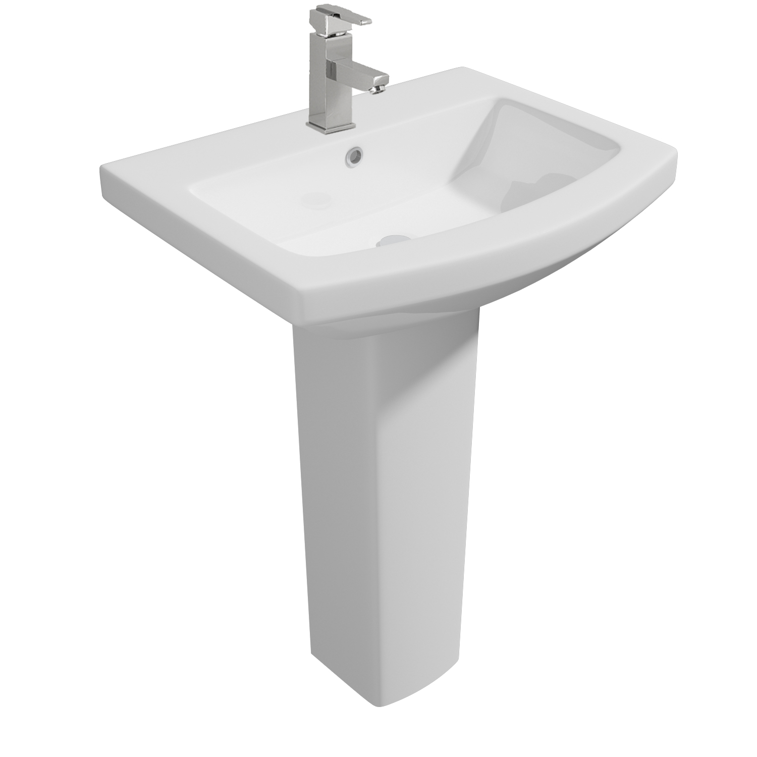 K-Vit Trim 550mm 1TH Basin & Pedestal
