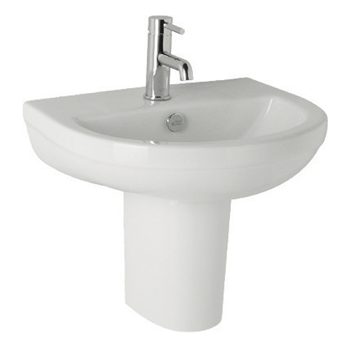 K-Vit Revive Basin 500mm 1TH & Semi-Pedestal