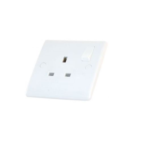 Selectric Smooth 13A Switched DP Socket Outlet - 1 Gang