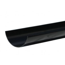 112mm Half Round 4 metre Gutter Length - Black